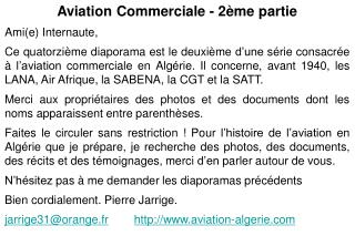 Aviation Commerciale - 2ème partie Ami(e) Internaute,