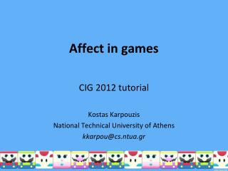 Affect in games