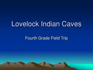 Lovelock Indian Caves