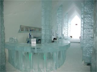 An ice hotel in Canada