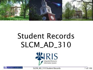 Student Records SLCM\_AD\_310