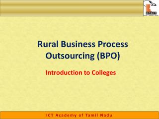 Rural Business Process Outsourcing (BPO)