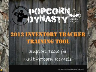 2013 Inventory tracker  Training Tool