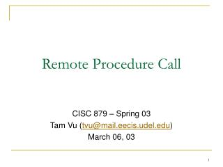 Remote Procedure Call