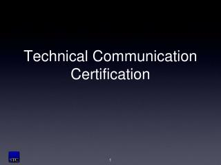 Technical Communication Certification