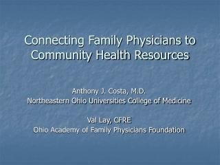 Connecting Family Physicians to Community Health Resources