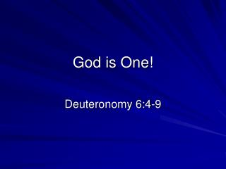 God is One!
