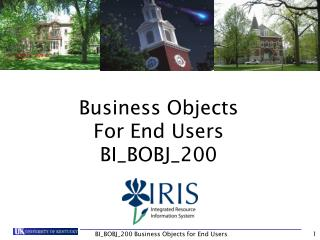 Business Objects For End Users BI\_BOBJ\_200