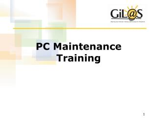 PC Maintenance Training