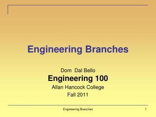 Engineering Branches