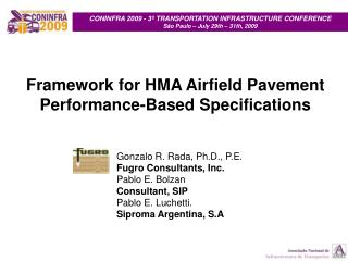 Framework for HMA Airfield Pavement Performance-Based Specifications