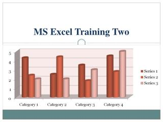 MS Excel Training Two