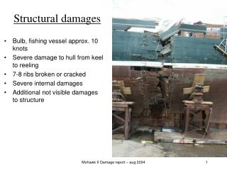 Structural damages