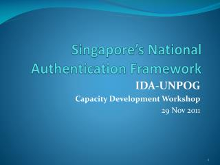 Singapore's National Authentication Framework