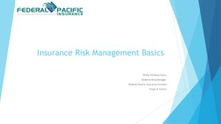 Insurance Risk Management Basics