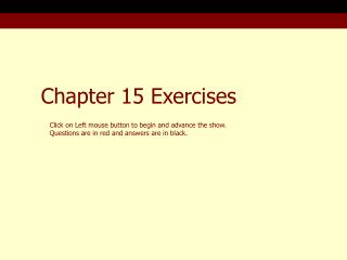Chapter 15 Exercises