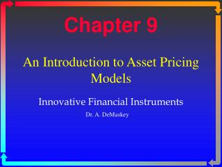 An Introduction to Asset Pricing Models