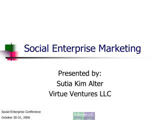Social Enterprise Marketing