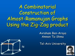 A Combinatorial Construction of      Almost-Ramanujan Graphs Using the Zig-Zag product
