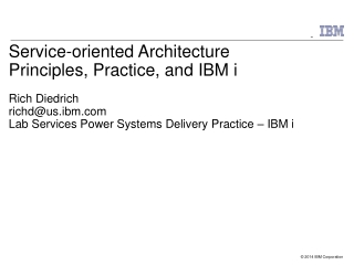 Practical Web Services for RPG IBM Integrated Web services for i
