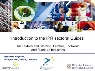 Introduction to the IPR sectoral Guides