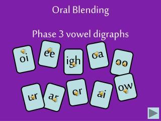 Oral Blending Phase 3 vowel digraphs