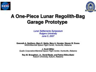 A One-Piece Lunar Regolith-Bag Garage Prototype