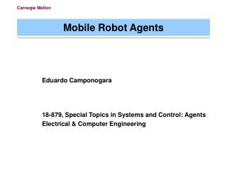 Mobile Robot Agents