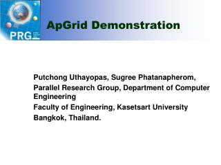 ApGrid Demonstration