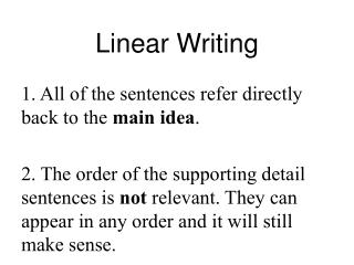 Linear Writing