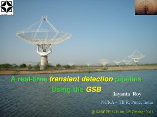 A real-time  transient detection  pipeline  Using the  GSB