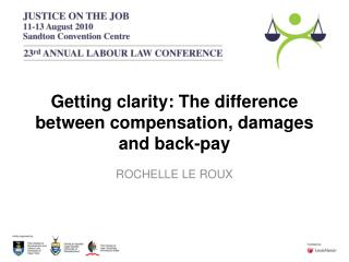 Getting clarity: The difference between compensation, damages and back-pay