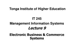 Tonga Institute of Higher Education
