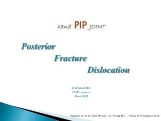 hand  PIP  JOINT