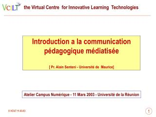 Introduction a la communication pédagogique médiatisée