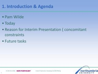 1. Introduction & Agenda