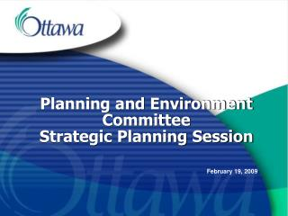 Planning and Environment Committee  Strategic Planning Session