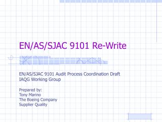 EN/AS/SJAC 9101 Re-Write