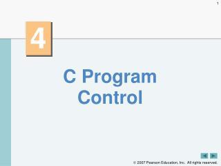 C Program Control