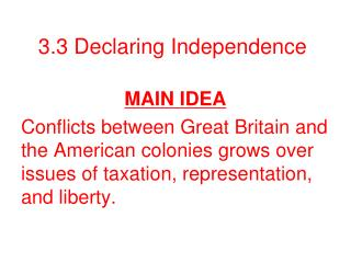 3.3 Declaring Independence