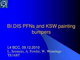 BI.DIS PFNs and KSW painting bumpers