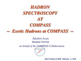 HADRON SPECTROSCOPY AT  COMPASS --  Exotic Hadrons at COMPASS  --