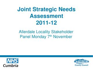 Joint Strategic Needs Assessment  2011-12