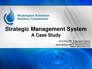 Strategic Management System A Case Study