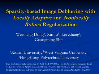 Sparsity-based Image Deblurring with  Locally Adaptive  and  Nonlocally Robust  Regularization