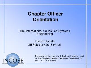 Chapter Officer  Orientation