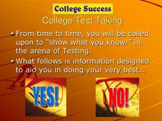 College Test Taking