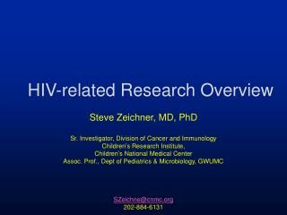 HIV-related Research Overview