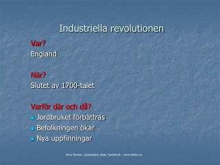 Industriella revolutionen