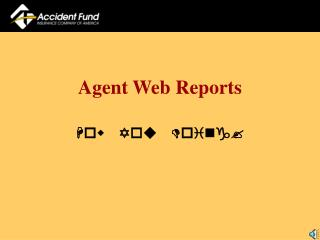 Agent Web Reports